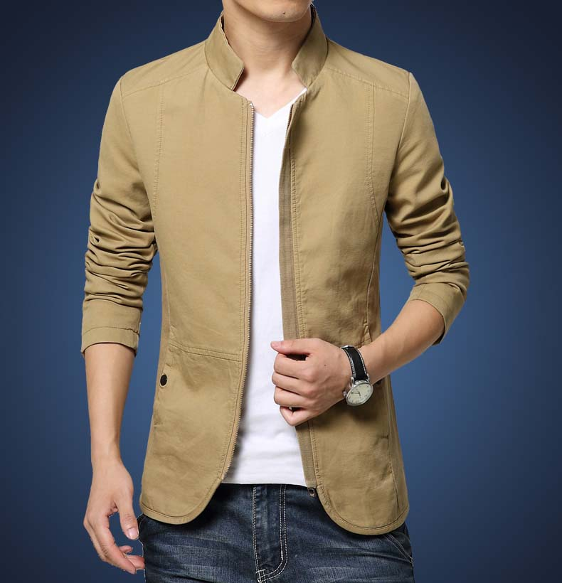 Mens outerwear in spring and autumn, Korean style, slim and handsome, spring clothes, spring casual coat, thin mens jacket