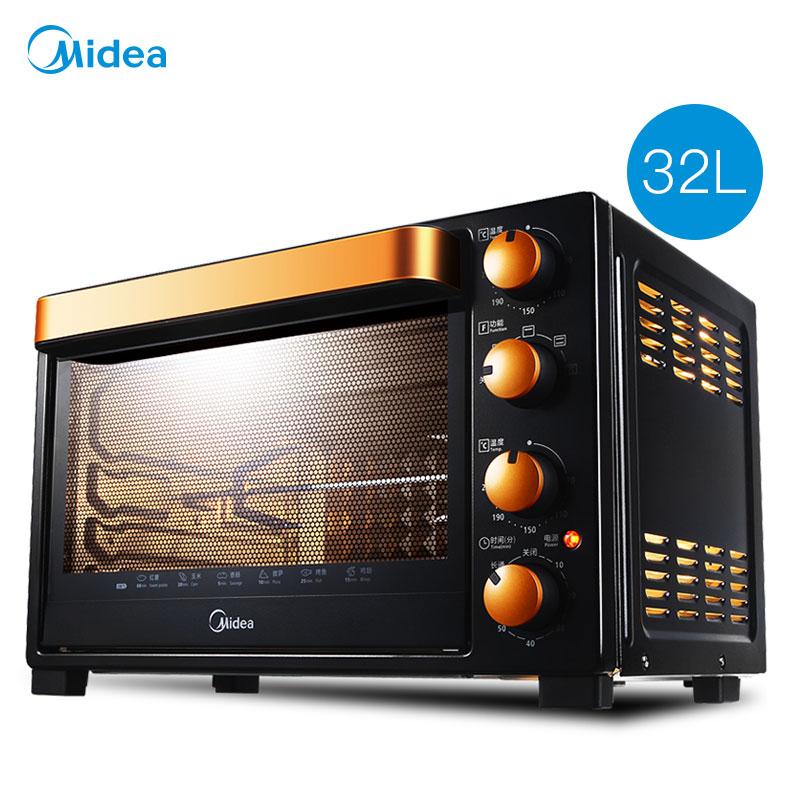 顺丰包邮Midea-美的 T3-L326B电烤箱家用全能32升多功能烘培正品