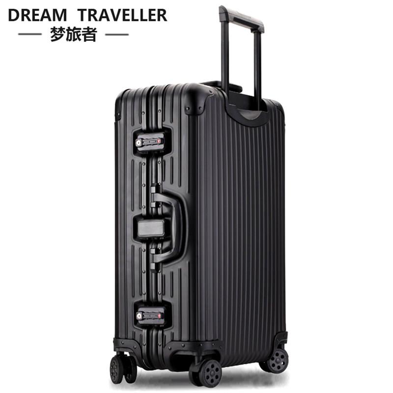 梦旅者铝镁合金拉杆箱商务铝框行李箱万向轮旅行箱子全金属密码箱