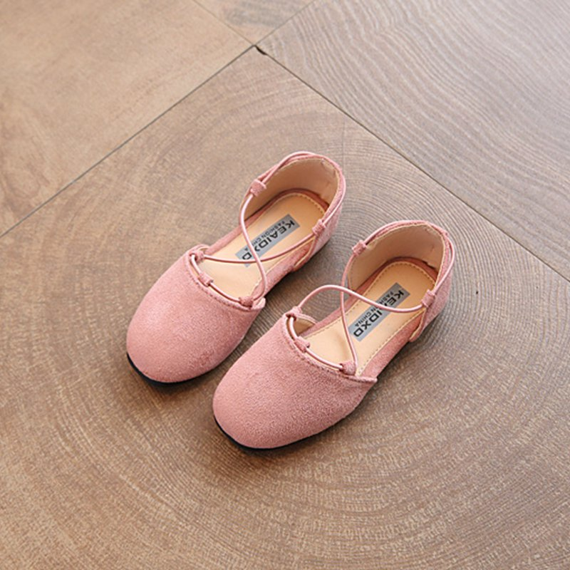 Girls spring and autumn princess shoes 2020 new Korean version of flat  shoes girls suede dance children\u0027s shoes leather shoes