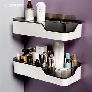 卫生间置物架浴室壁挂式免打孔厕所洗手间洗漱台用品用具收纳架子