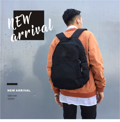 2018 New Simple Backpack Male College Wind Korean Tide brand Backpack Leisure Travel Computer College bag