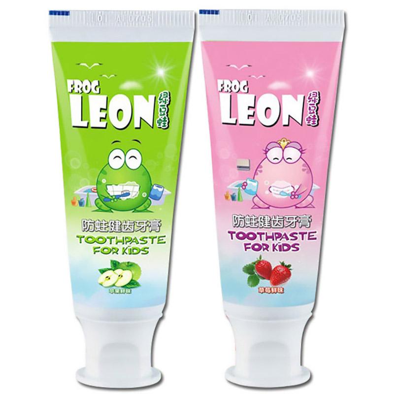 绿豆蛙正品儿童防蛀牙膏水果味误吞安全换牙期3-6-12岁口腔清洁