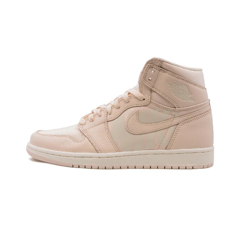 Air Jordan 1 High aj1 淡粉色 弹幕 高帮男篮球鞋 - 555088 801