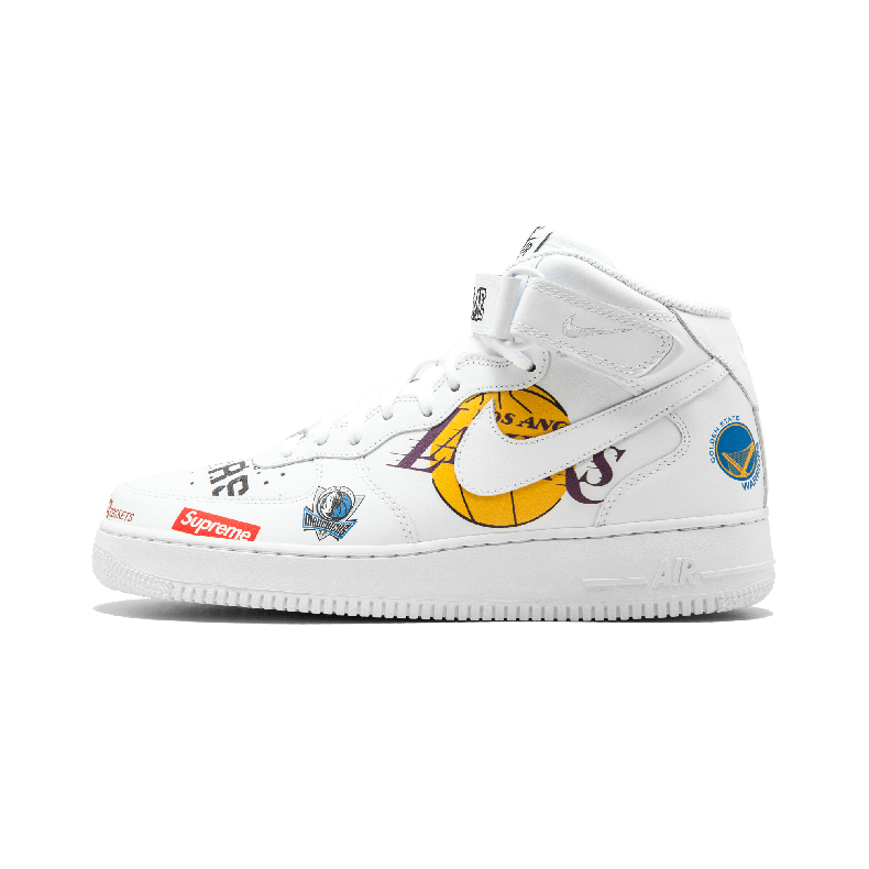 Nike Air Force 1 x NBA x Supreme三方联名板鞋 - AQ8017 100 -