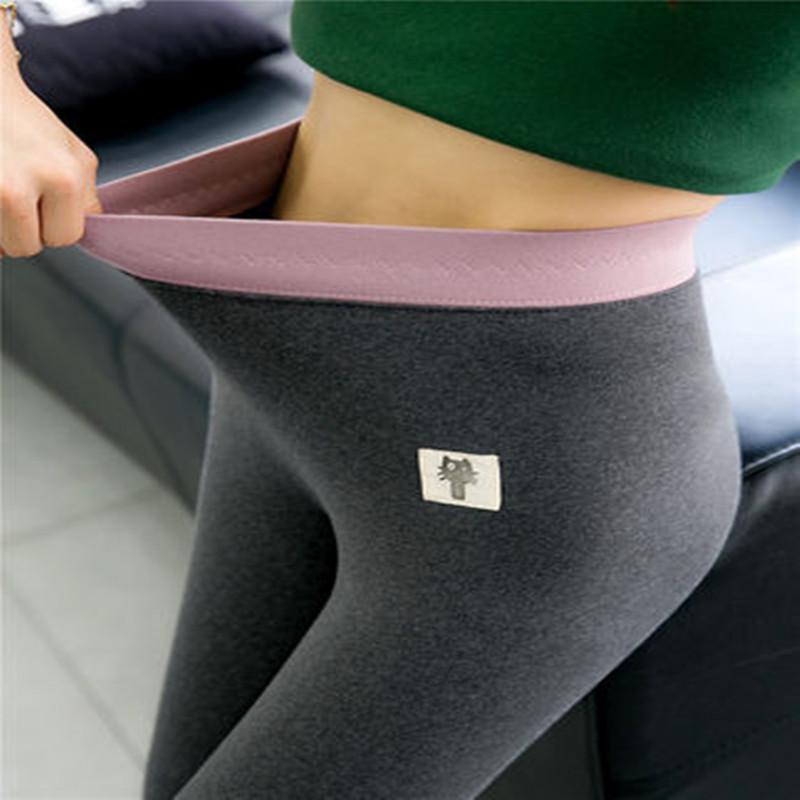 打底裤女外穿春秋薄款灰色修身显瘦高腰韩版纯棉小猫2020新款裤子