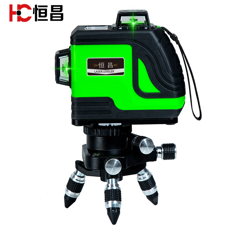 恒昌 12线绿光贴墙仪8线水平仪高精度自动打线红外线激光投线仪
