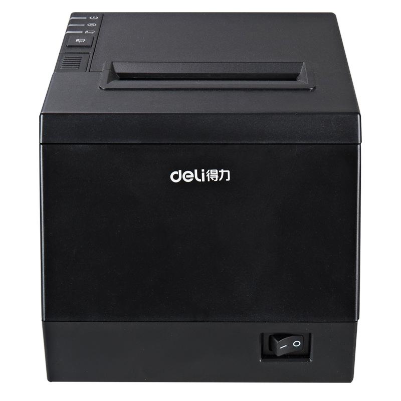 得力DL-801P热敏票据打印机美团百度外卖80mmUSB有线迷你小票据机