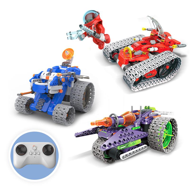 葡萄科技星际探索积木系列儿童小颗粒拼装益智玩具男孩智能遥控车