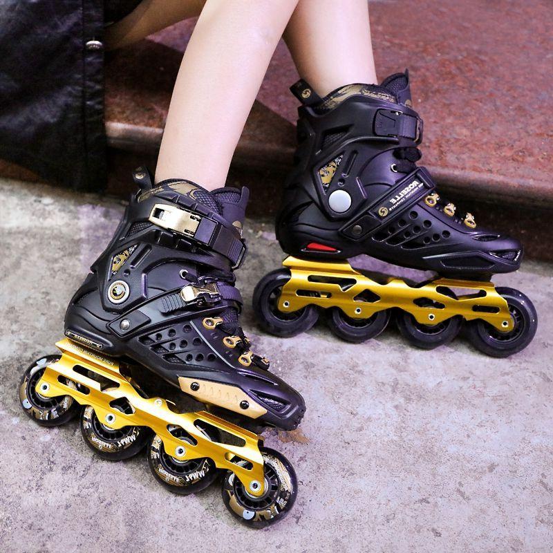 洛神溜冰鞋成人轮滑鞋直排轮专业平花鞋花式鞋旱冰鞋男女全闪