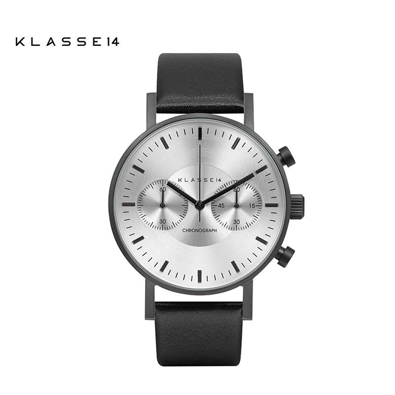 KLASSE14意大利简约石英男女士手表皮带大盘计时码多功能学生腕表