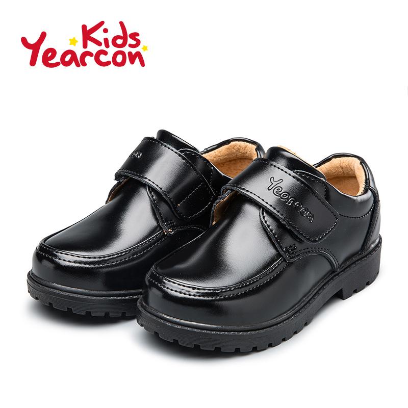 意尔康童鞋2017新款小皮鞋演出鞋男童中小童英伦风方头学生鞋产品展示图1