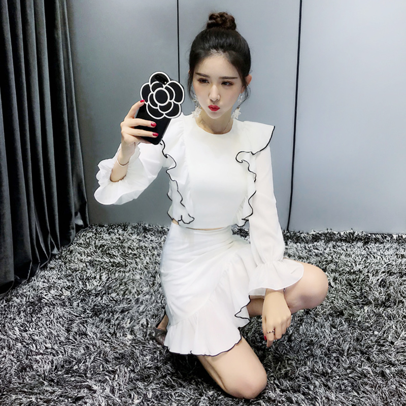 初秋装女2018新款套装时尚秋季晚晚风chic小香风女神范网红两件套