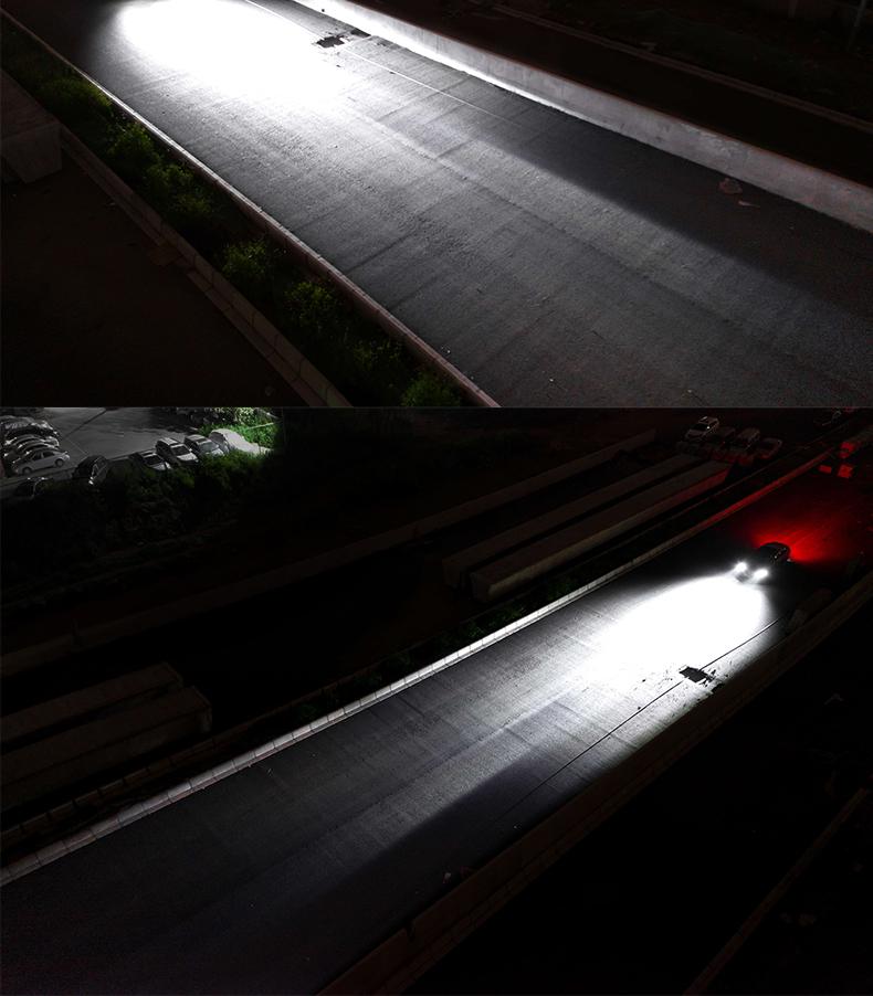 汽车led大灯h7h1h4远近一体9012改装55WH11超亮远近光灯泡led大图片五