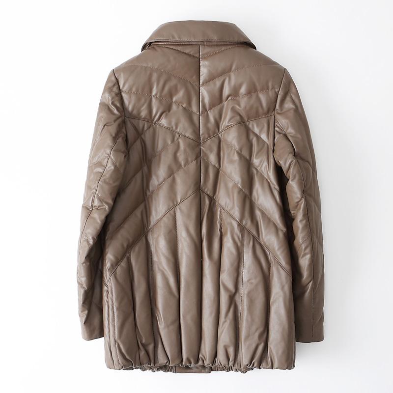 真皮羽绒服女短款2017新款海宁皮衣羊皮外套女宽松显瘦加厚保暖