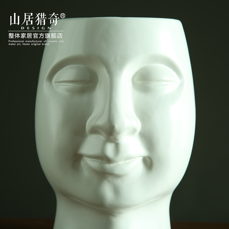 Contracted and I household soft adornment between example sitting room art flower arranging flowers, white porcelain face vases