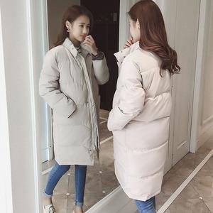 棉衣女中长款胖mm2018冬季新款韩版学生宽松清仓特价处理棉服外套
