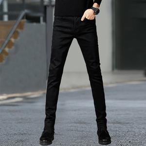 秋季男士休闲裤男韩版潮流修身小脚裤黑色长裤宽松商务直筒裤子男