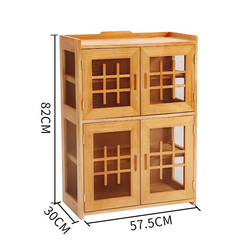 实木小碗柜简易橱柜多功能家用厨房经济型厨房柜餐具收纳柜餐边柜