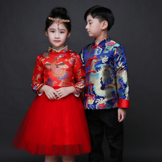 Chinese traditional outfit for children Sunset