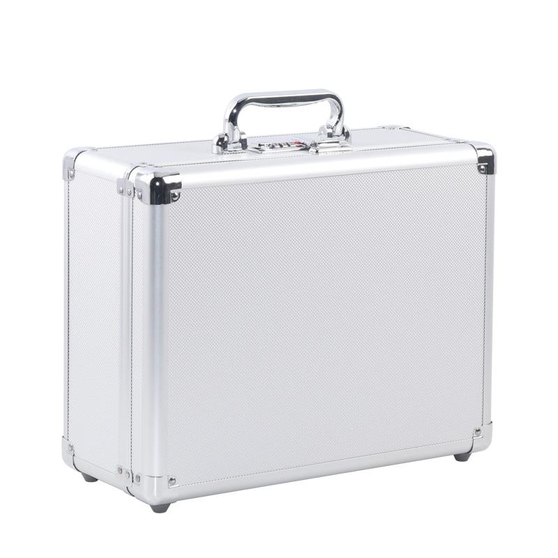 小号铝合金工具箱密码手提箱子证件箱收纳箱文件箱保险箱设备箱
