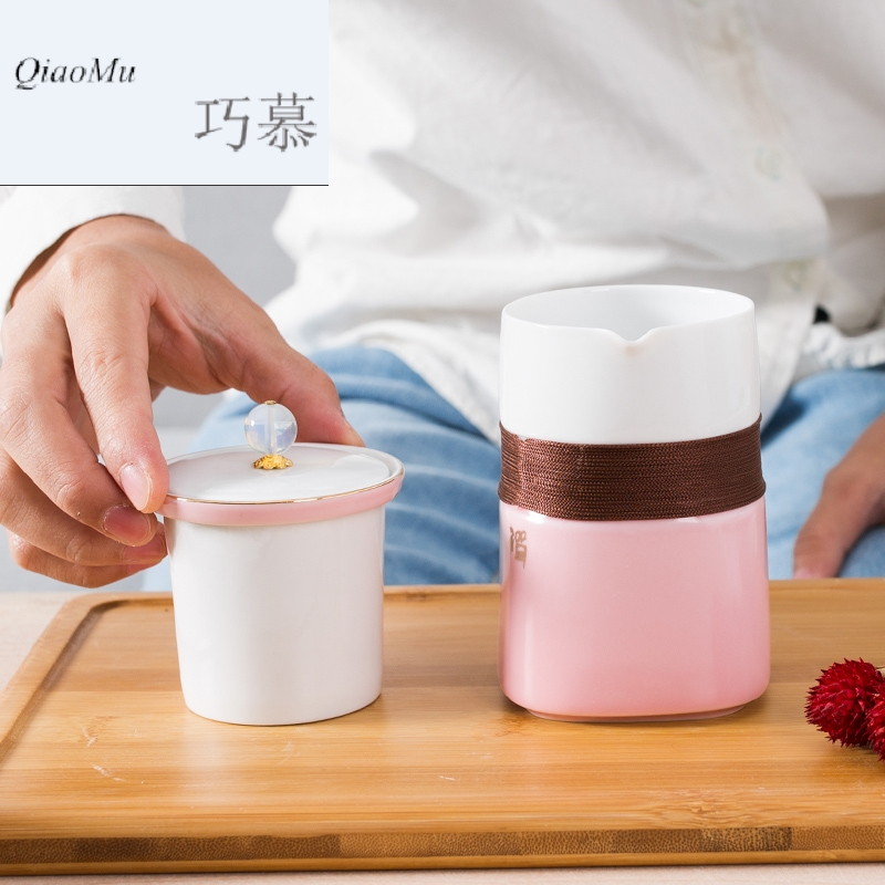 Qiao mu creative ceramic crack of mercifully cup with cover filter tank cup tea cup personal cup of office