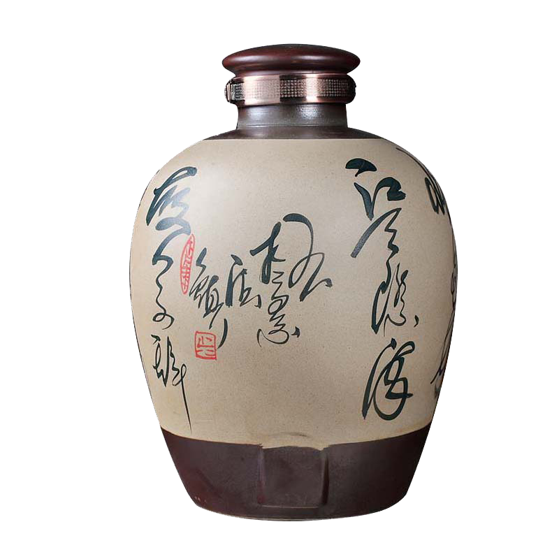 Qiao for restoring ancient ways of jingdezhen ceramic bottle wine jar expressions using seal the yellow crane tower it 20 jins 30 pounds looking