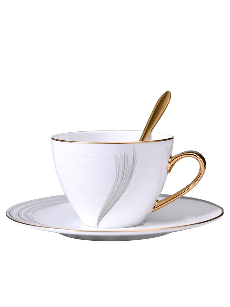 Qiao mu Nordic move coffee cups and saucers manual paint mark cup ipads porcelain ceramic cup tea tea service contracted