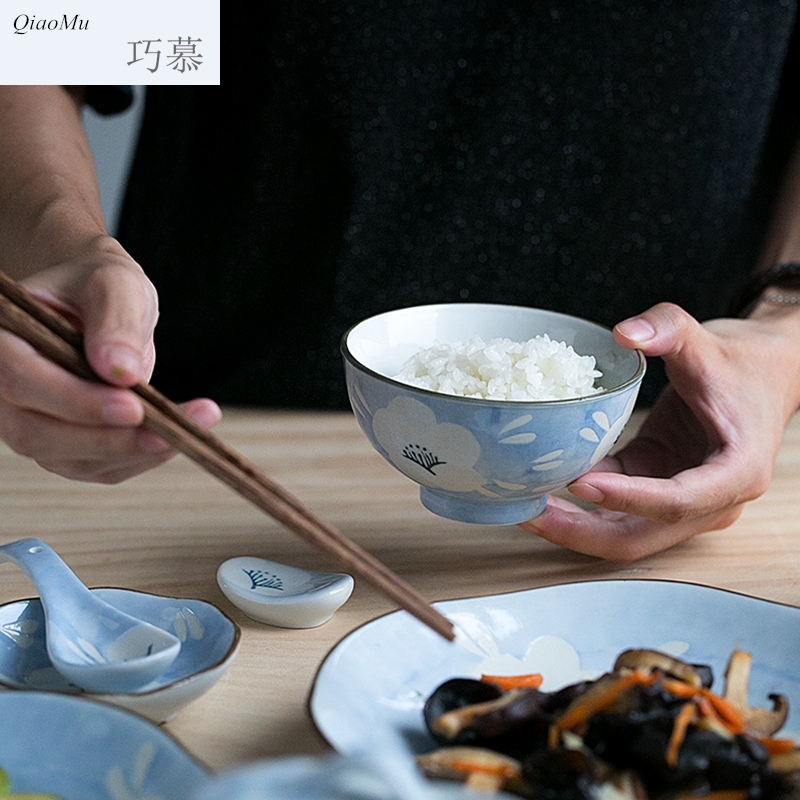 Qiao mu creative ceramic Japanese dishes dish soup bowl tableware tableware suit rice bowl dish dish home dinner plate