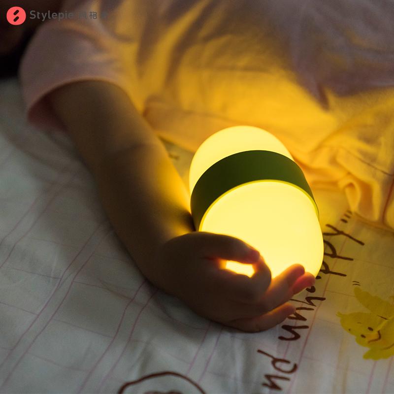 翻翻定时伴睡灯充电卧室床头小夜灯夜光拍拍睡眠灯起夜灯生日礼物