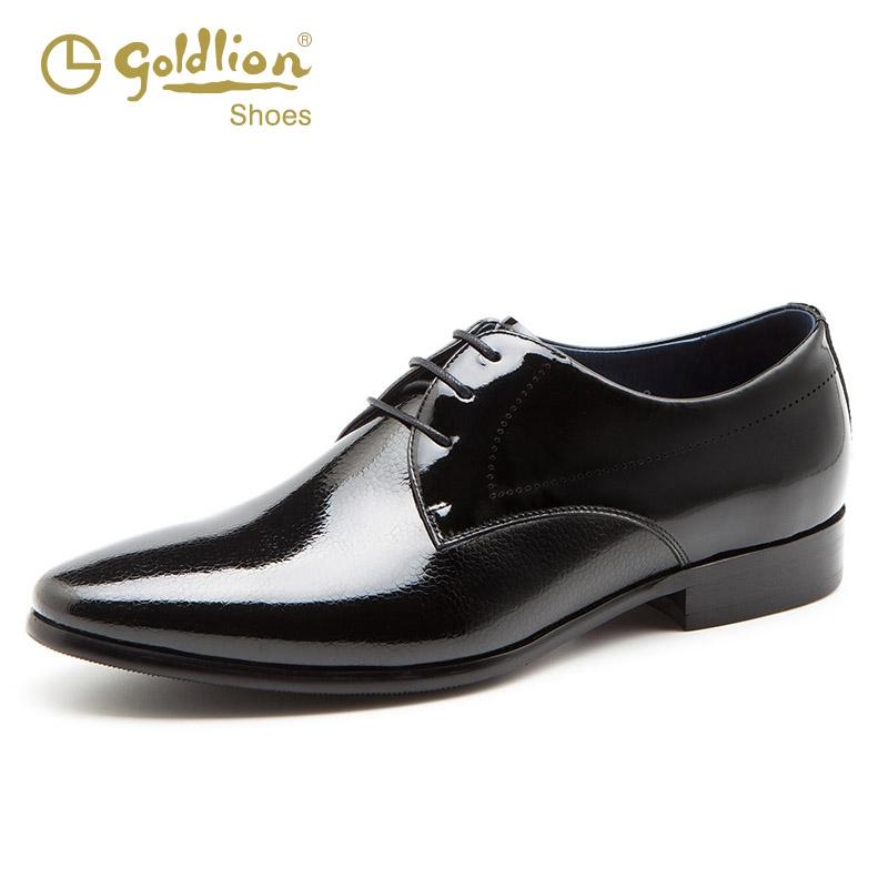 金利来皮鞋男士商务休闲亮面鞋夏季新款真皮尖头英伦新郎伴郎婚鞋