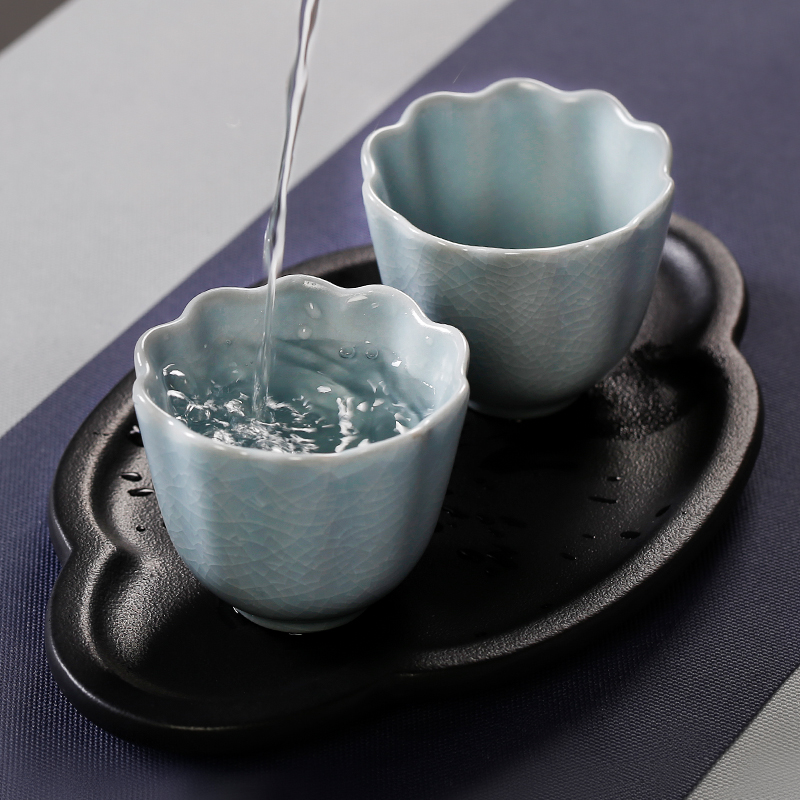 Coarse TaoXiangYun saucer dish ceramic contracted small tea tray saucer retro coasters Japanese dry mercifully kung fu tea set