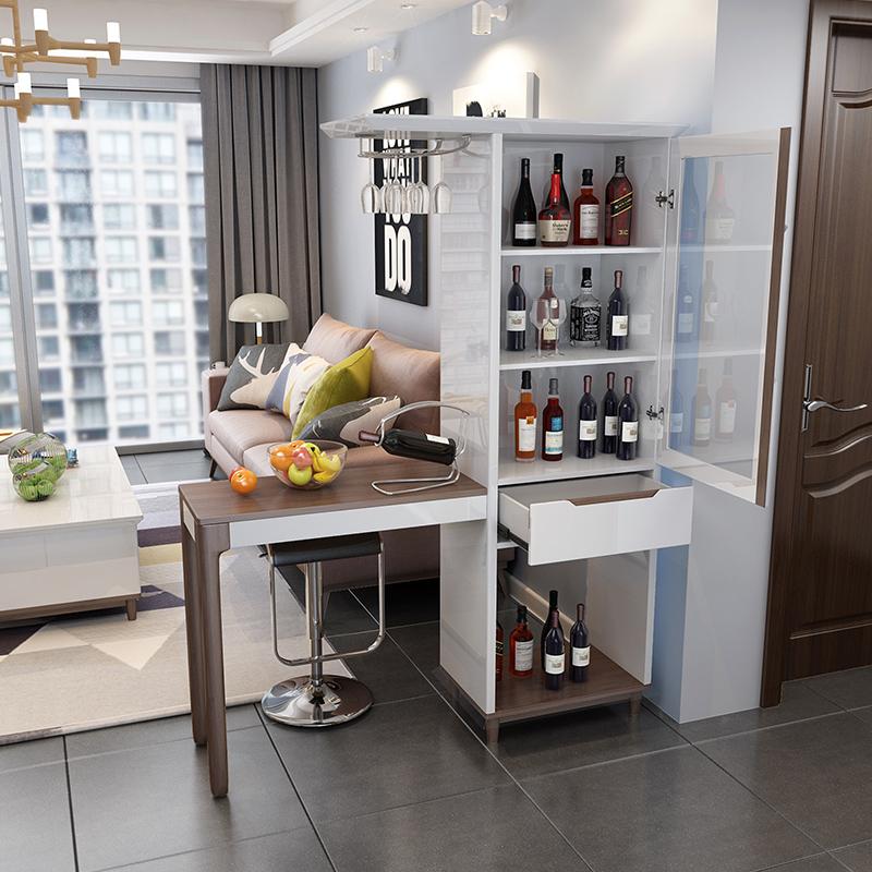 北欧客厅餐厅吧台 现代简约家用一体玻璃酒柜门厅柜隔断柜装饰柜