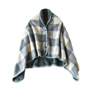 秋冬季多功能午睡毯辦公室頸肩保暖毯披肩斗篷披風毛絨蓋毯懶人毯