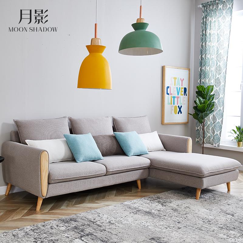 北欧客厅布艺沙发现代简约整装家用小户型三人位经济型可拆洗组合