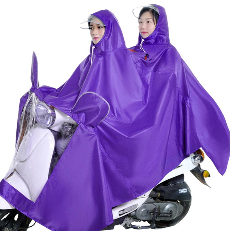 雨衣摩托车电动车双人男女士加大加宽加厚电瓶车雨披骑行防水