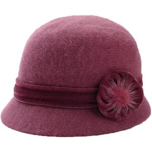 中老年人帽子女秋冬季兔毛中年妈妈女士冬天保暖老人老太太毛线帽