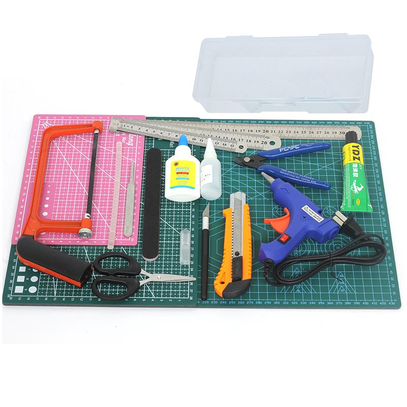 沙盘建筑模型工具套装diy手工制作高达工具包 剪钳笔刀镊子打磨条