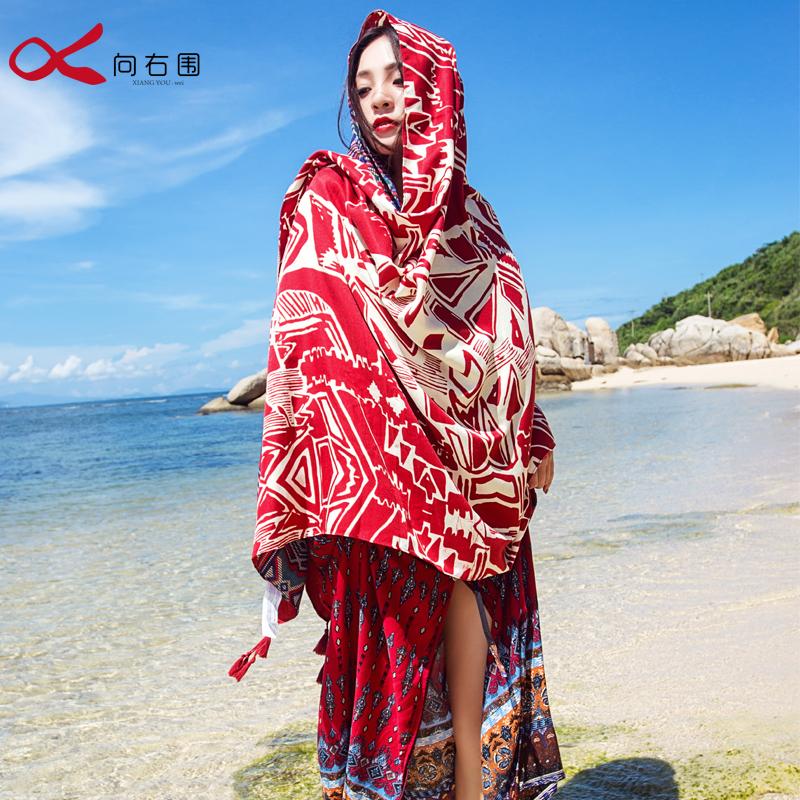 青海旅游围巾披肩女冬季民族风