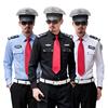 保安服长袖春秋装工作服形象岗黑蓝白售楼部房产酒店安保制服套装