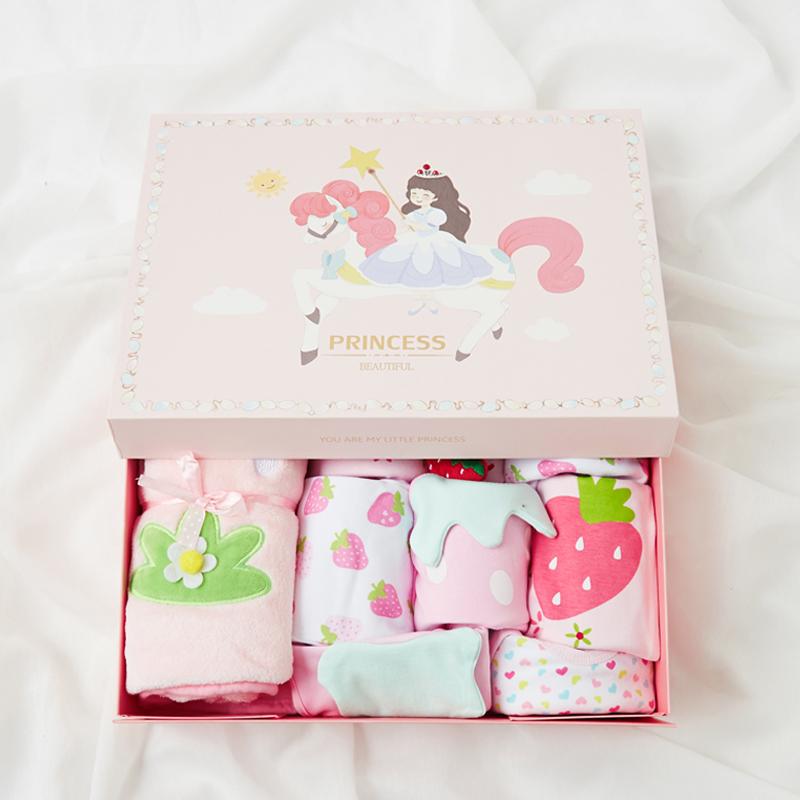 婴儿礼盒套装新生儿用品女百天宝宝礼物刚出生的婴儿衣服公主秋季