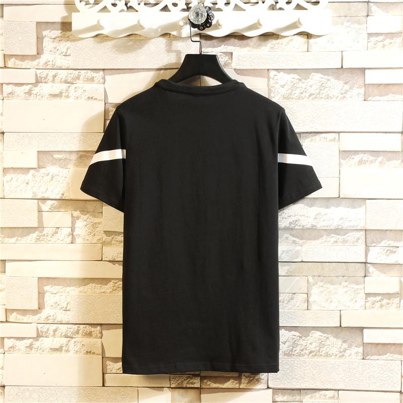 ERRAGE t恤男短袖2019夏季新款韩版潮流印花半袖白色打底衫纯棉T