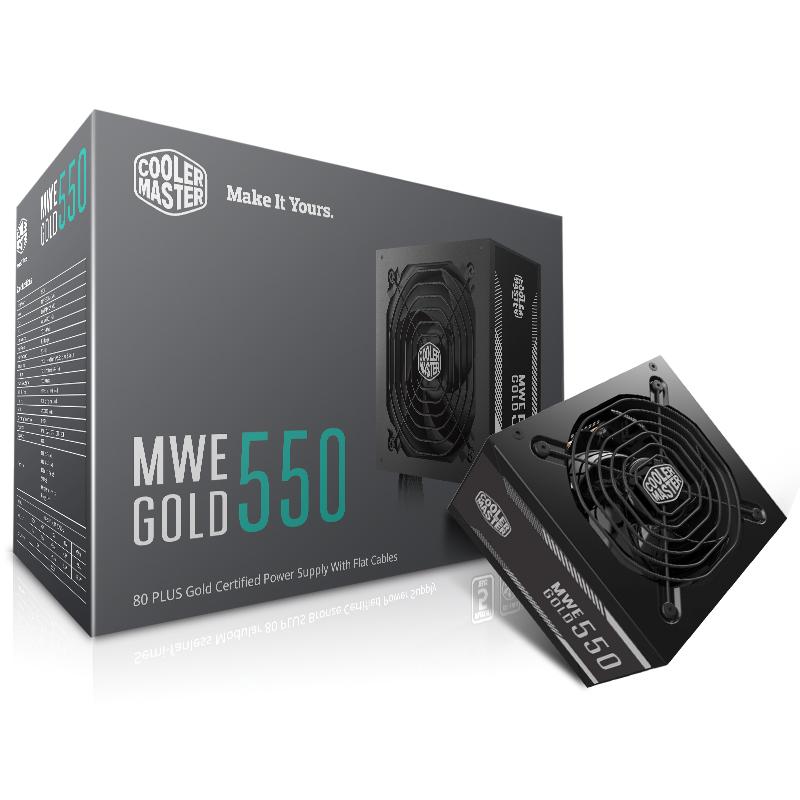 酷冷至尊额定550W MWE550 电脑电源 80PLUS金牌认证 台式机 宽幅