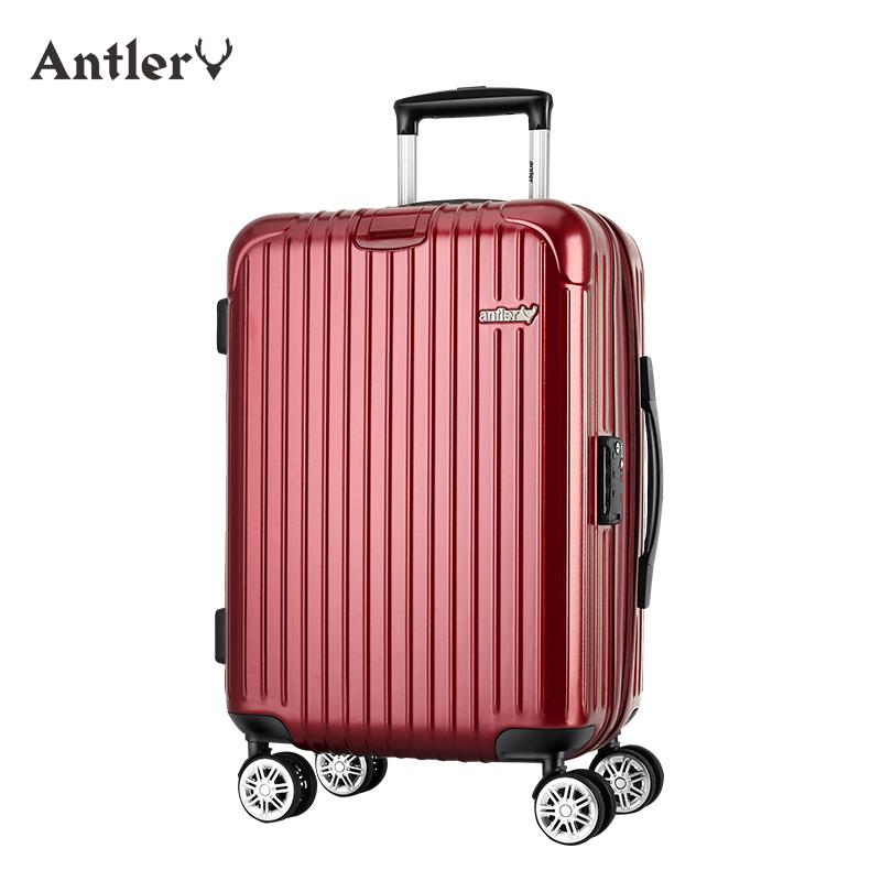 antler-安特丽行李箱女拉杆万向轮密码箱子24寸小清新旅行箱学生