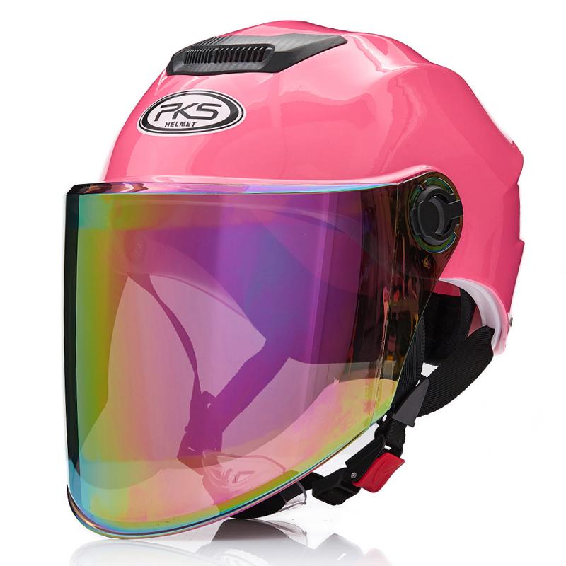 摩托车头盔男女电动车夏季半盔防晒防紫外线轻便半覆式安全帽