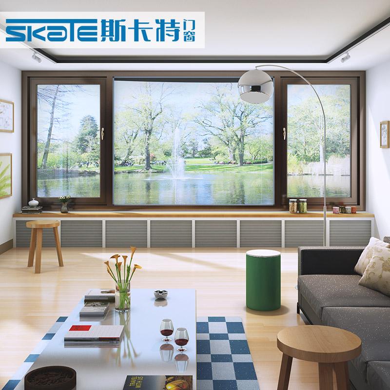 斯卡特断桥铝门窗封阳台铝合金窗户铝包木门窗隔音窗隔热窗阳光房