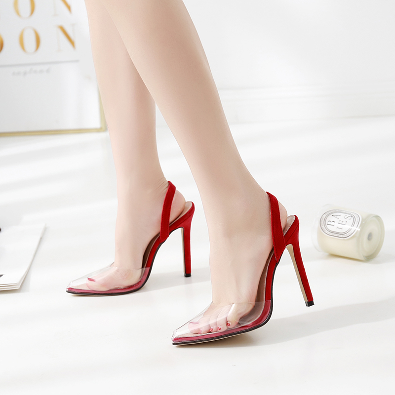 Fashion Pointed Women Pumps Sexy Woman High-heeled Slippers ...