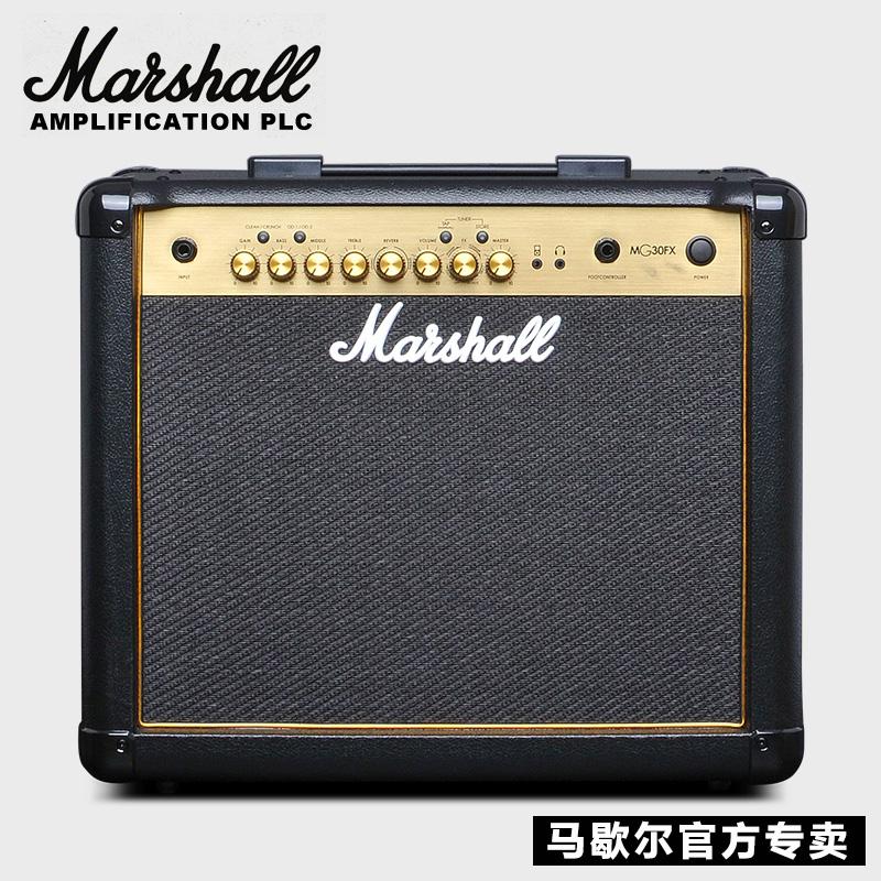 正品MARSHALL马歇尔吉他音箱MG30CFX马勺电吉他音响70W带效果功能