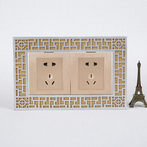 美式中式开关贴墙贴保护套墙壁插座装饰灯开关保护套复古家居装饰