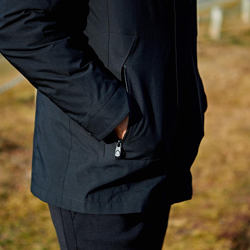 七匹狼运动羽绒服冬装新品二合一两件套可单穿保暖风衣羽绒外套男